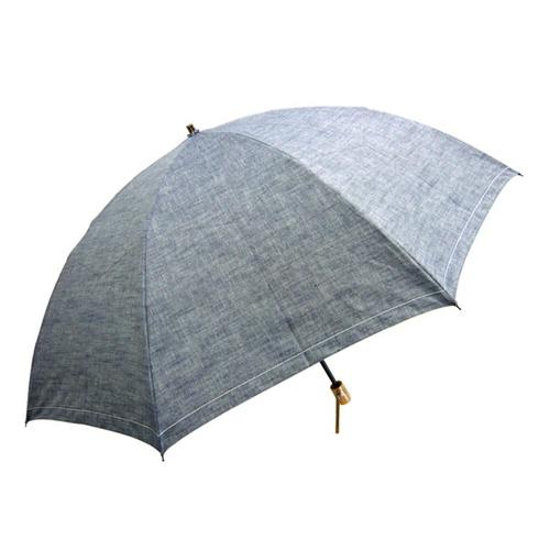 岡山デニム折傘60cm ブラック